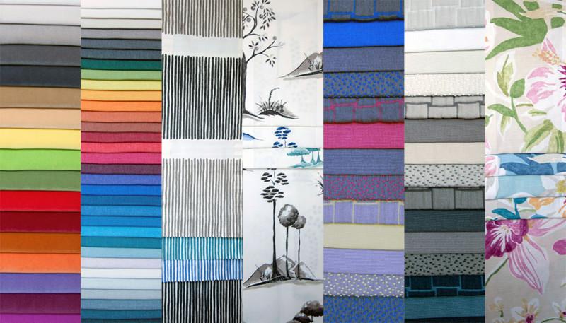 Alcuni esempi di tessuti e colori che potete trovare da Salotti Fossati